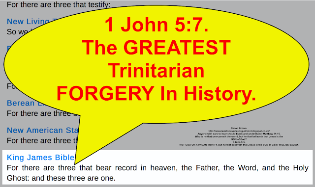 1 John 5:7 the GREATEST FORGERY in Christianity.