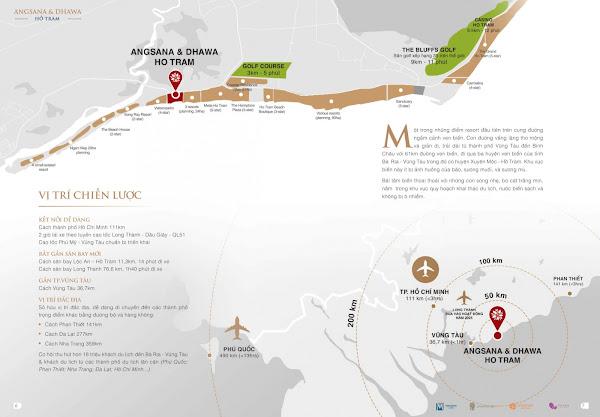 vị trí dự án angsana dhawa hồ tràm , nằm trên đường ven biển Hồ tràm thuộc xã phước thuận, huyện Xuyên Mộc, tỉnh Bà Rịa - Vũng Tàu