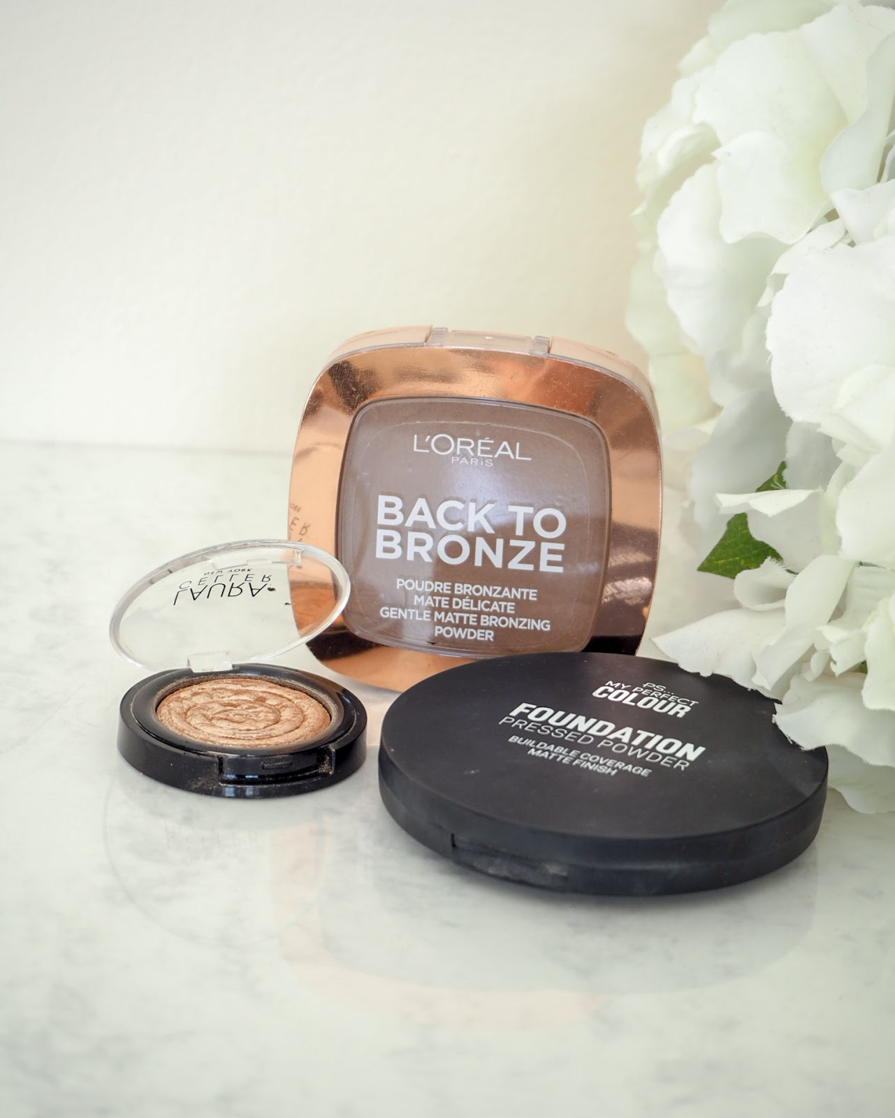 Collection of makeup powders