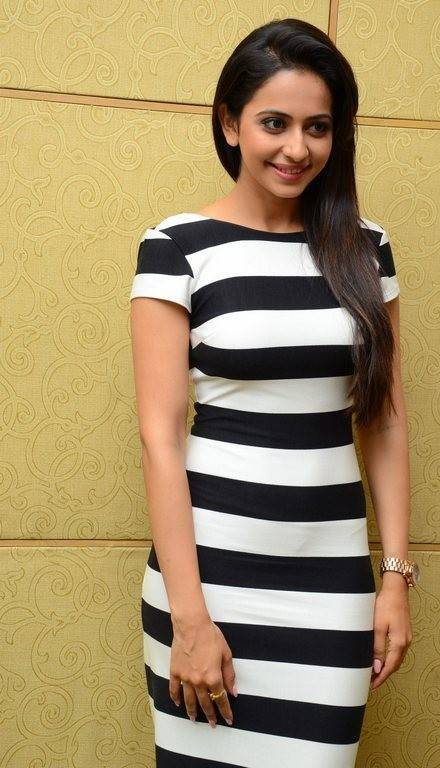 Rakul Preet Latest Pics In Black Dress