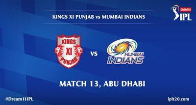 IPL: किंग्स इलेवन पंजाब अबु धाबी में मुंबई इंडियंस से लेगी टक्कर