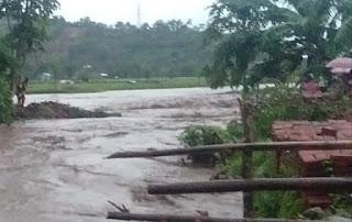 Sungai Meluap, Puluhan Hektar Tanaman Petani dan Ribuan Batu Bata di Jatiwangi Terendam Banjir