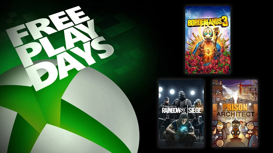 borderlands 3 prison architect rainbow six siege xbox live gold free play days event
