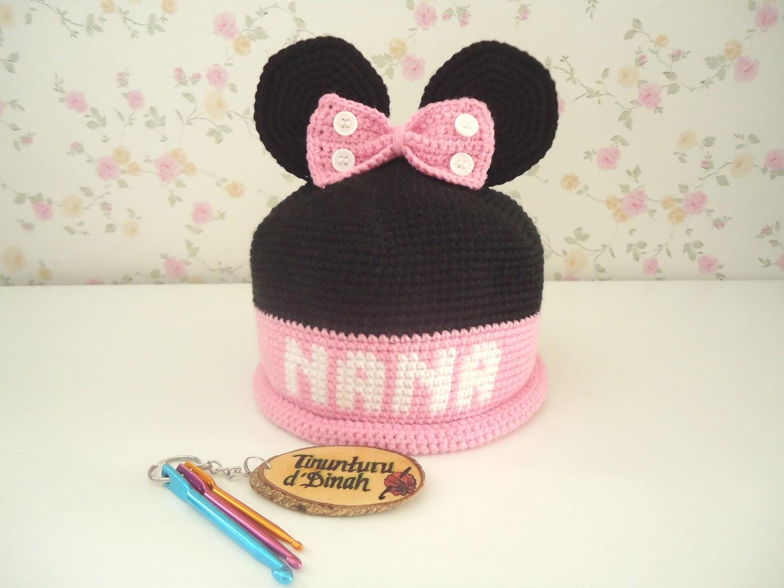 Dinah Crochet: Minnie Mouse hat