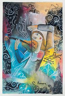 https://www.latelierdannapia.com/ Chagall Picasso alto violon viola violino Annapia Sogliani artiste peintre pittrice painter artist Scuola Internazionale di illustrazione di Sarmede