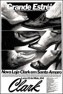 sapatos Clark anos 70; moda anos 70; propaganda anos 70; história da década de 70; reclames anos 70; brazil in the 70s; Oswaldo Hernandez