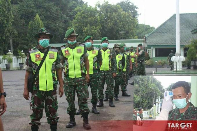 Soliditas TNI, Kodim Pati Laksanakan Tes Pengecekan Suhu Tubuh, Antisipasi Penyebaran Covid-19