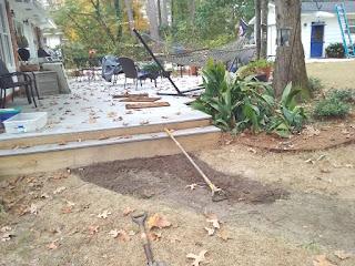 Flagstone Walkway Project - Beginning