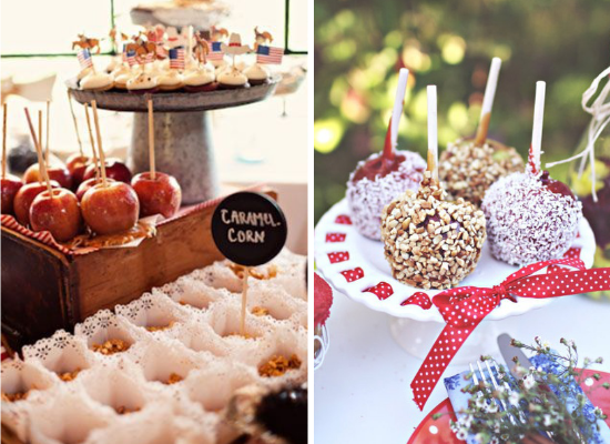 Wedding cake alternative ideas, wedding dessert, caramel apples