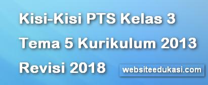 Kisi-Kisi PTS/UTS Kelas 3 Tema 5 K13 Revisi 2018