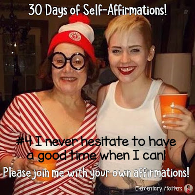 "30 Days of Self-Affirmations: Day 4: I never hesitate to have a good time when I can!  For 30 days, I will be celebrating my own ""new year"" with self-affirmations. If you are interested in joining me, feel free to  write your own affirmations here, or  respond on my social media here: http://bit.ly/2JuKRWa"
