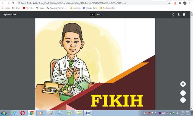 Buku fikih kelas 3 sd/mi sesuai kma 183 tahun 2019
