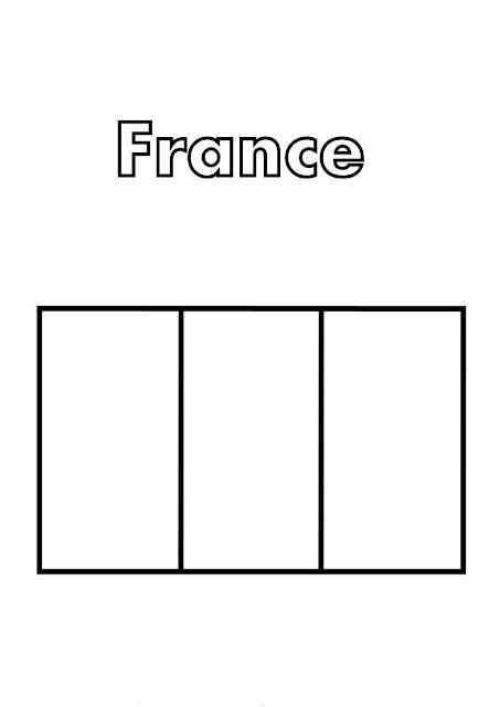 coloriage drapeau france gratuit