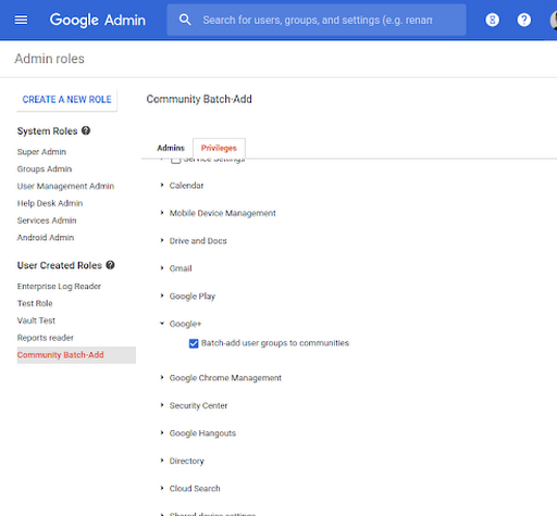 Add users and Google Groups to domain-restricted Google+ Communities