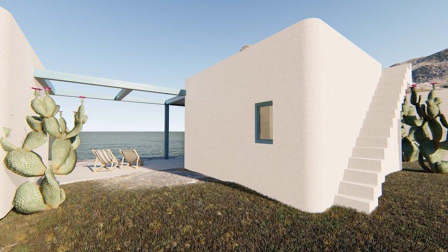 Casa contenedor marítimo de estilo ibicenco