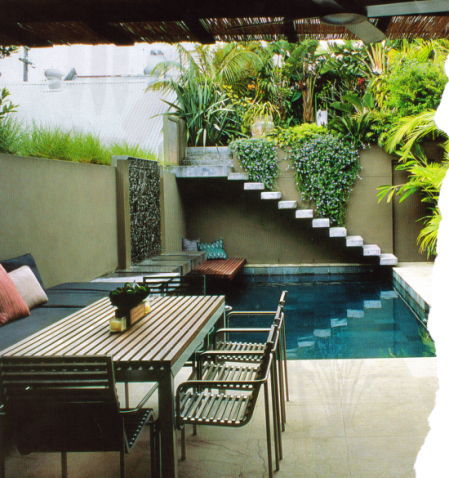 Small Courtyard Pool Garden Designs Ideas