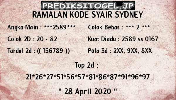 Prediksi Sidney 28 April 2020 - Joker Merah Sydney