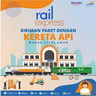 Pengiriman barang dengan Rail Express PT KAI.