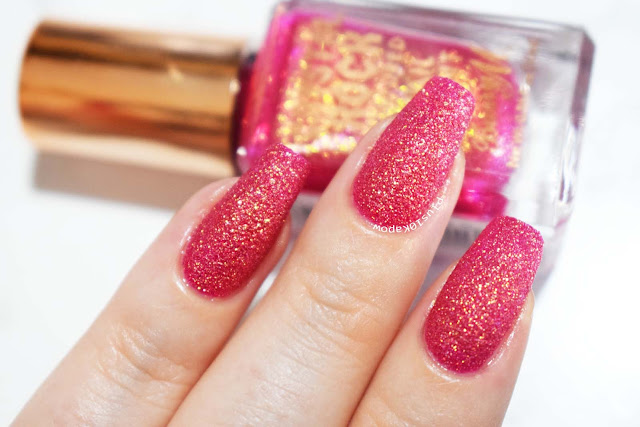 Barry M Crystal Rock Collection Swatches Pink Tourmaline