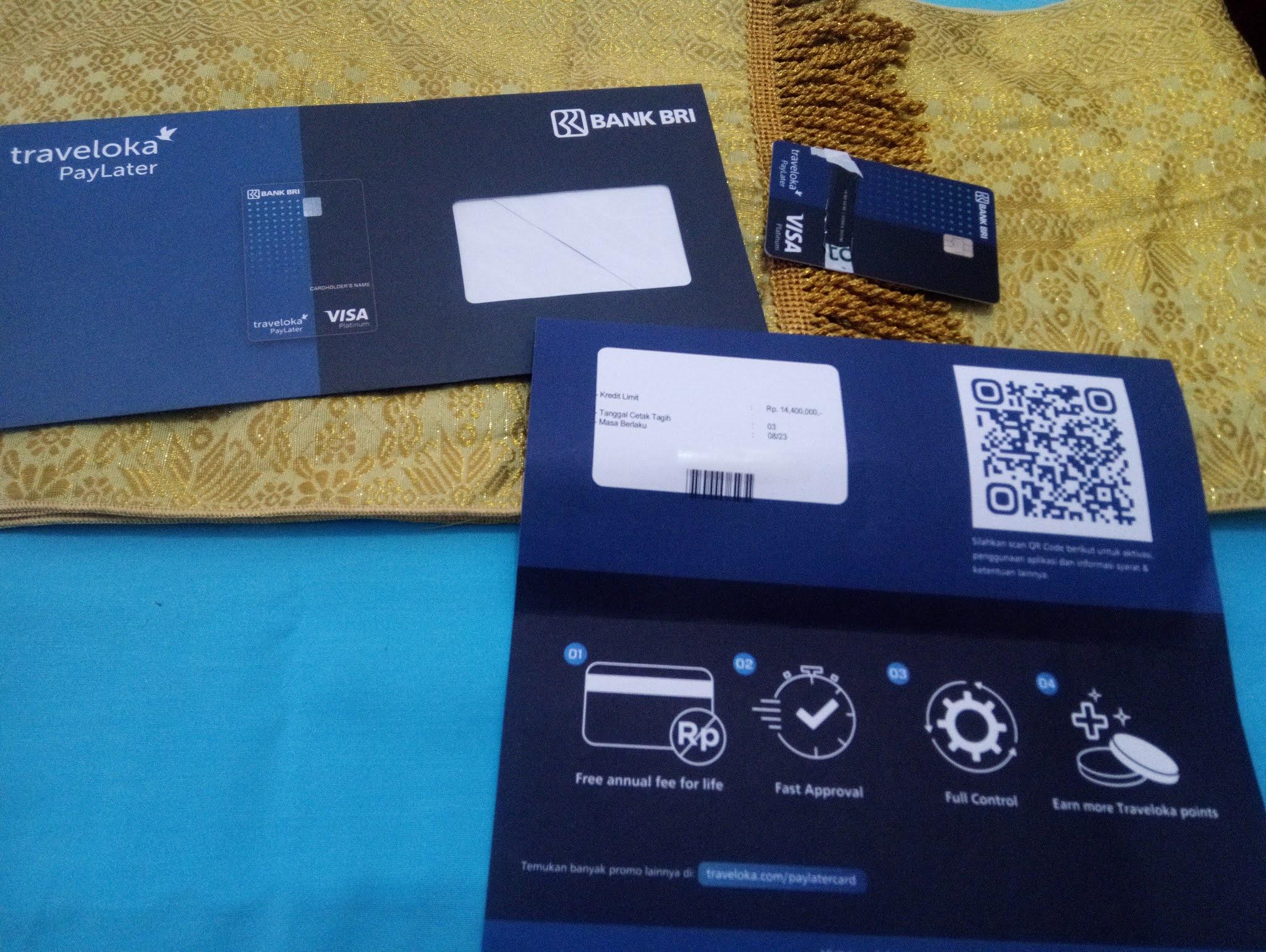 Kartu Kredit Traveloka Paylater Card Bri