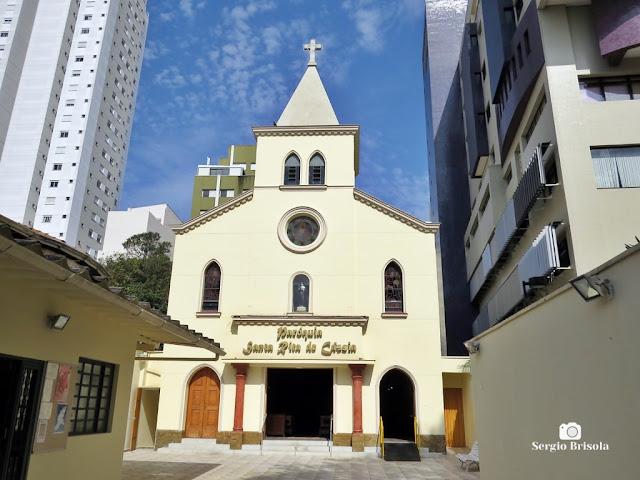 Vista da fachada da Paróquia Santa Rita de Cássia - Vila Mariana - São Paulo