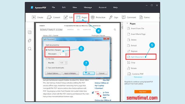 Cara Memisahkan File PDF di Android