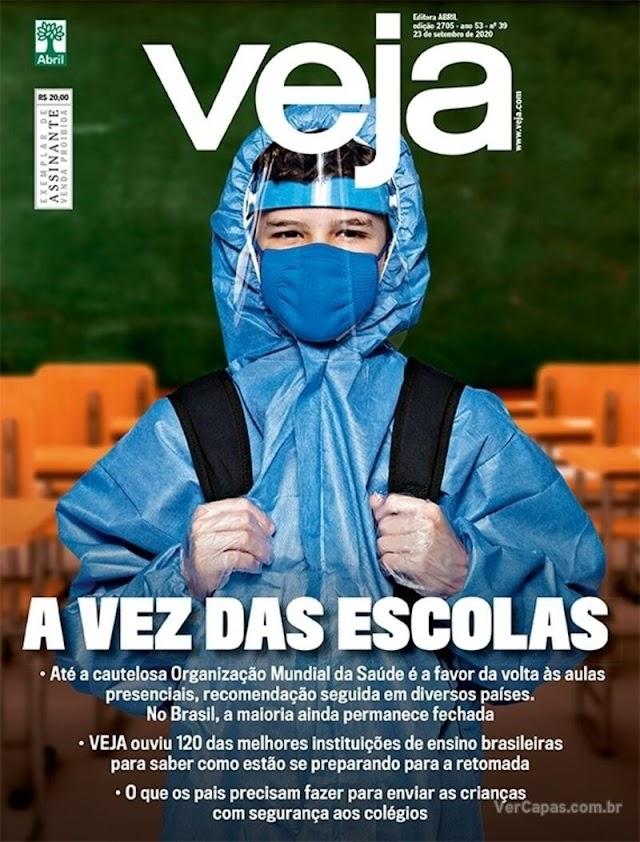 REVISTAS SEMANAIS- Destaques de capa das revistas que estão chegando às bancas e residências dos assinantes neste final de semana. Sábado, 19/09/2020