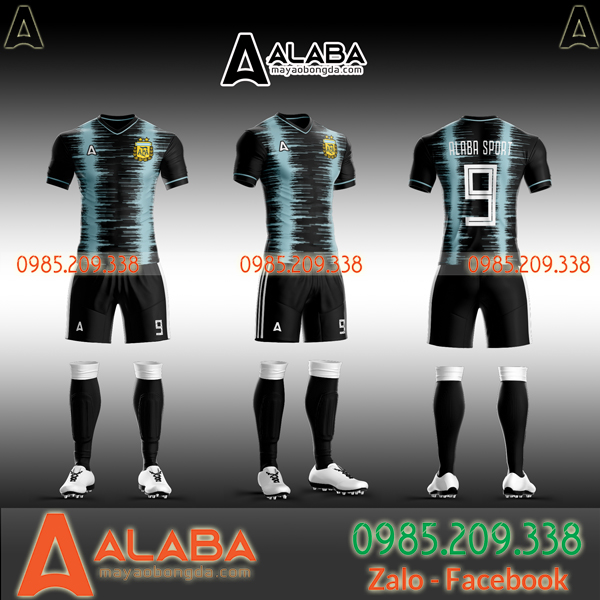 Áo Argentina đen tự thiết kế