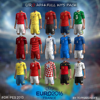 PES 2013 Euro 16 Full Kits Pack (24 Teams) By TopHardSoft