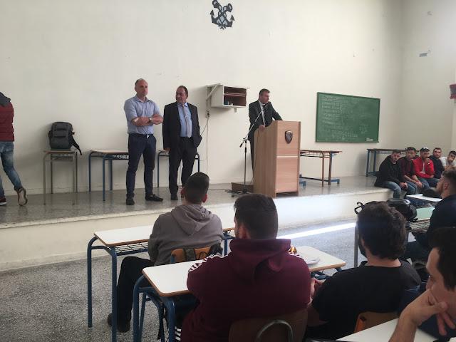 Πρέβεζα: Την ΑΕΝ επισκέφτηκαν μέλη του διοικητικού συμβουλίου της Πανελλήνιας Ένωσης Πλοιάρχων Εμπορικού Ναυτικού (ΠΕΠΕΝ)