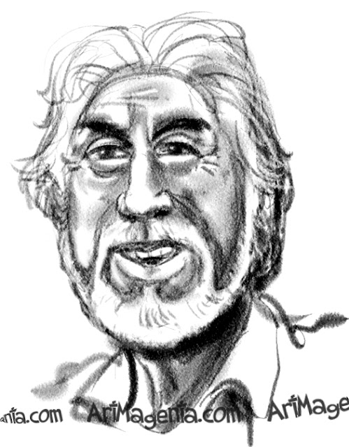 Kenny Rogers is a caricature by caricaturist Artmagenta