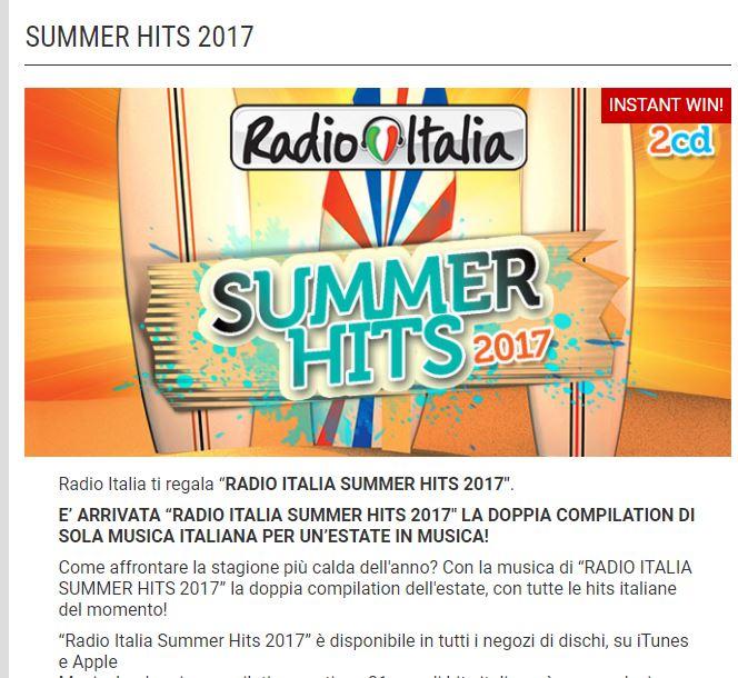 Vinci Summer Hits 2017 con Radio Italia ~ 1000 modi per