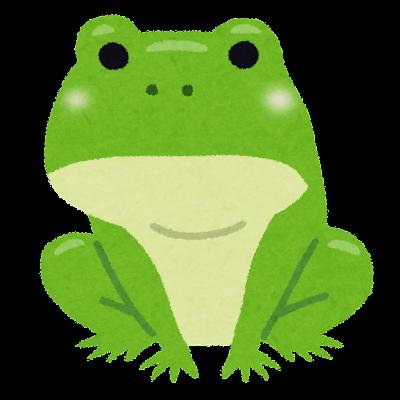 大人のカエルのイラスト(カエルの成長)
