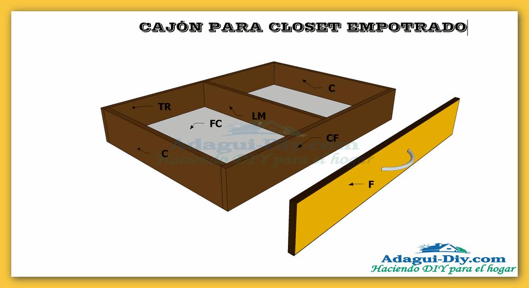 Plano como hacer cajones para closet empotrado de cocina for Planos de closet pdf