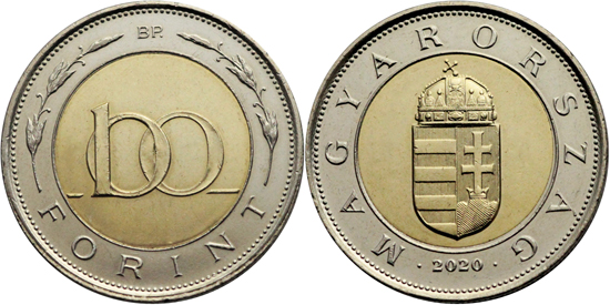 Hungary 100 forint 2020 - New composition (non magnetic)