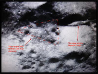 Fotografia publicada por Nasa de supuesta nave estrellada en la Luna