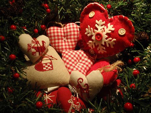 wallpaper christmas hearts