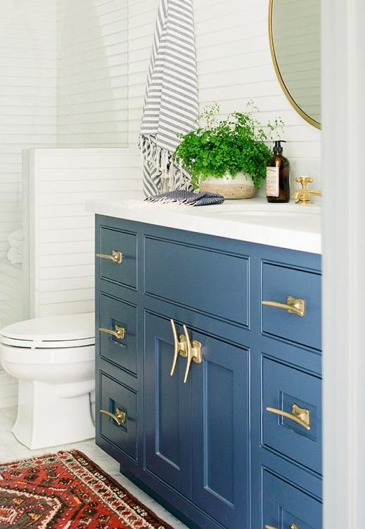 Coastal Beach Ocean Vibe, Beach Bathroom Cabinets