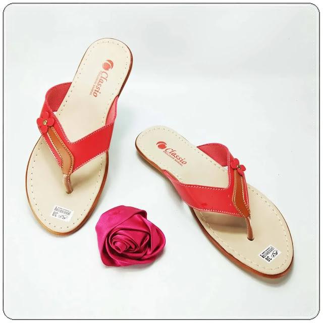 Grosirsandalmurah.net -Sandal Imitasi Kulit Wanita - CS Japit Kulit