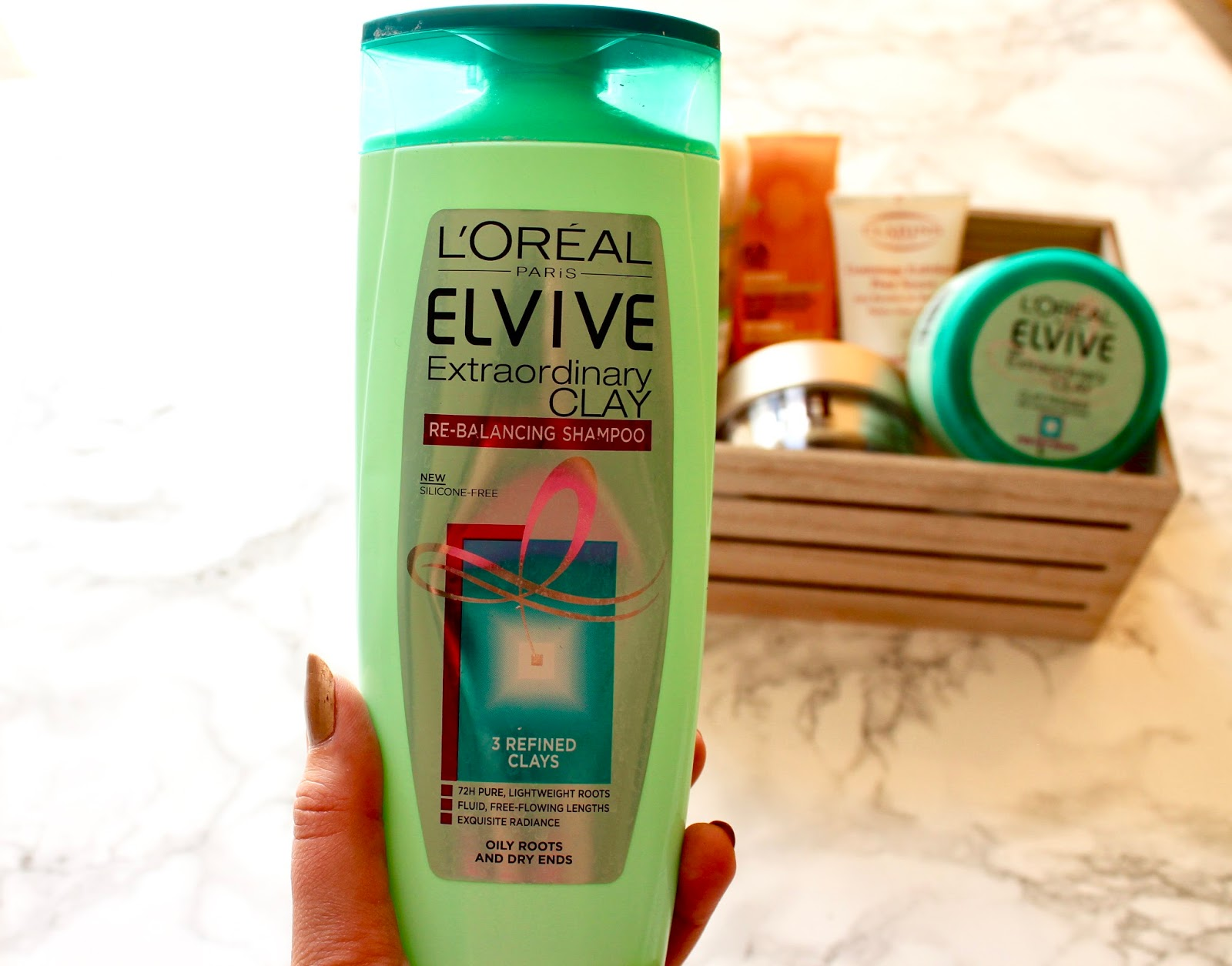 Empties L'Oreal Elvive Extraordinary Clan Re-Balancing Shampoo