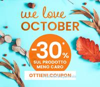 """Pittarello """"We Love October"""" : per te uno sconto del -30% sul prodotto meno caro"""