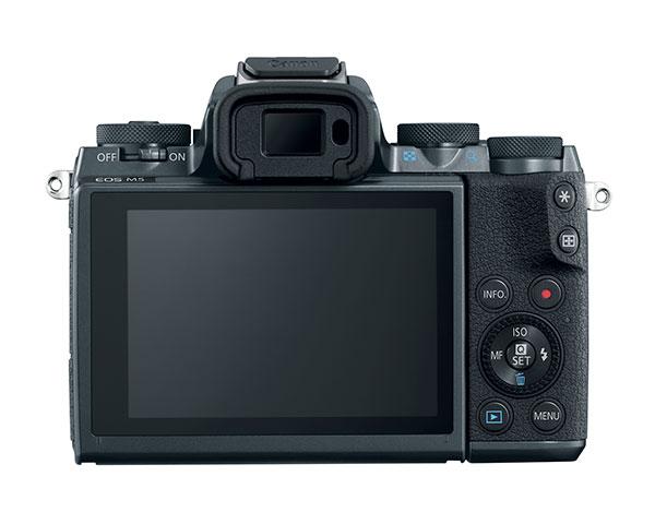 Il dorso della Canon EOS M5