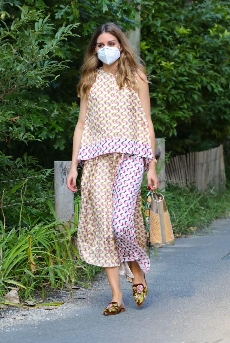 Olivia Palermo Clicked Outside  in New York 11 Aug -2020