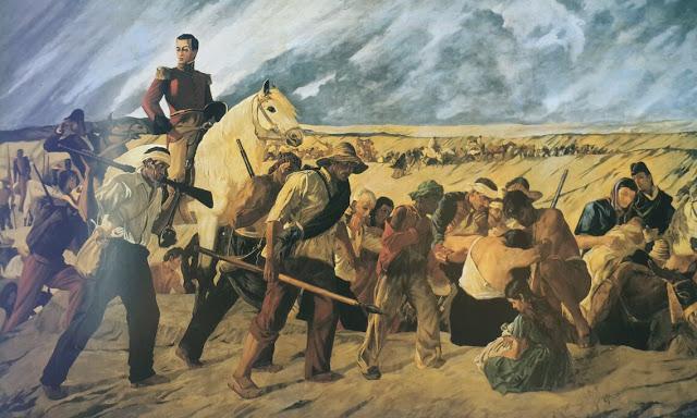 Rafael Urdaneta en la Retirada de San Carlos