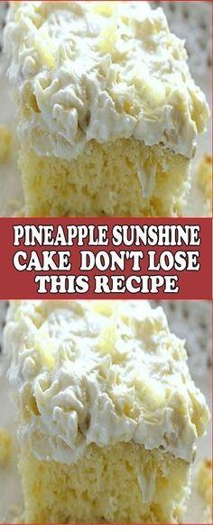 Pineapple Sunshine Cake – Don't Lose This Recipe!