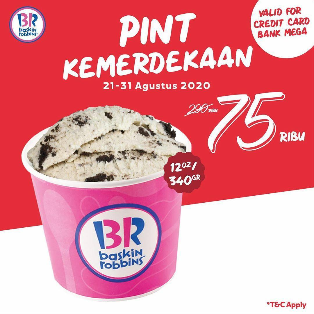 Promo Baskin Robbins Fresh Pack Pint Rp 75.000 Periode 21-31 Agustus 2020