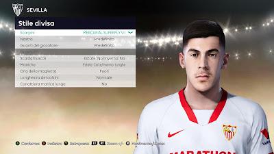 PES 2021 Faces Carlos Fernández Luna