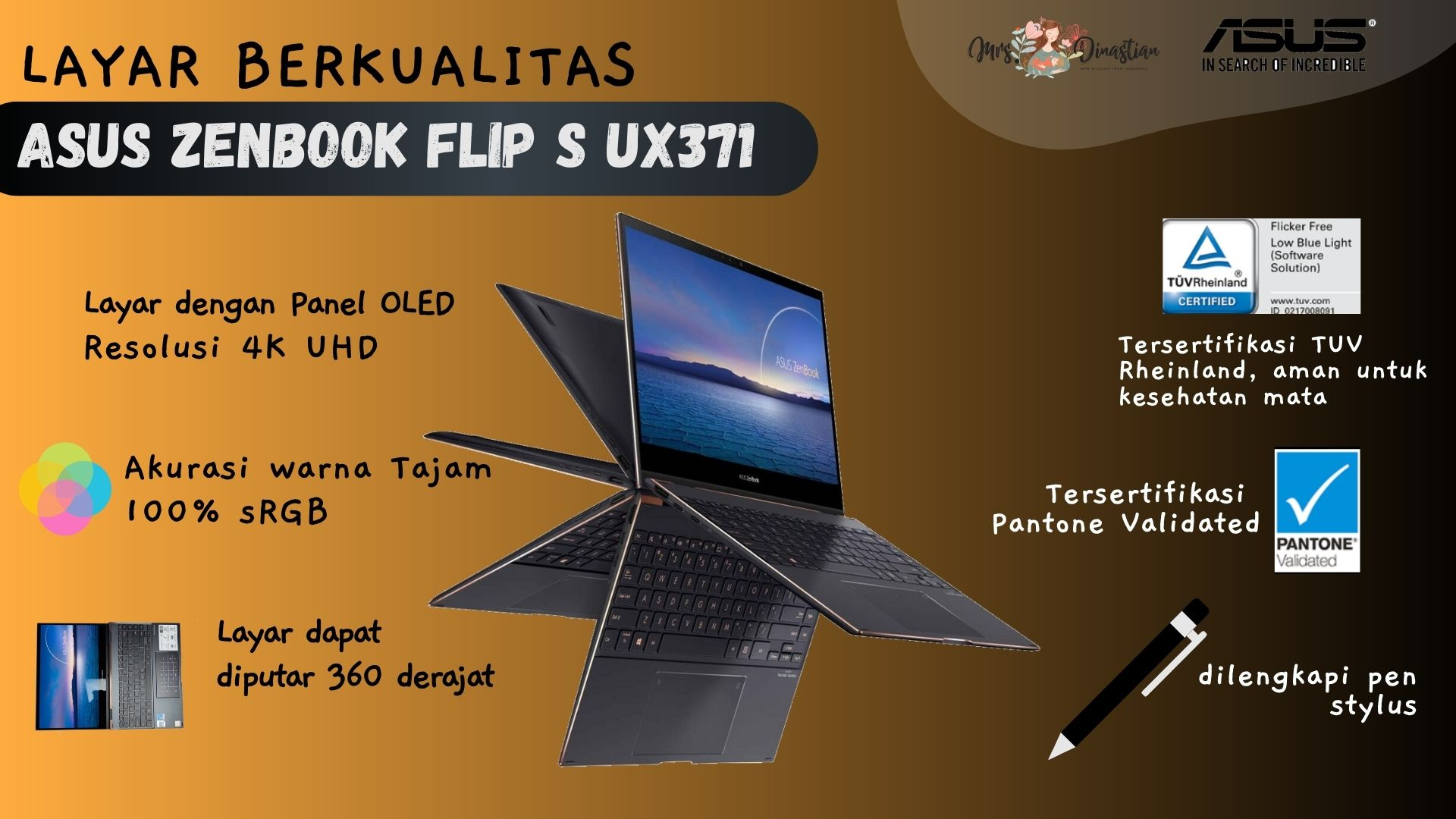 Layar Zenbook Flip S UX371