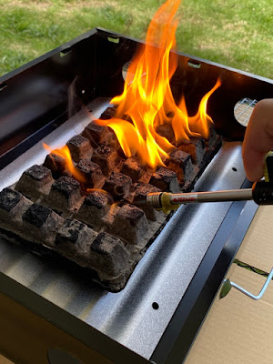 ダイソー ミ燃料炭に着火
