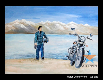 Top Best Professional Colour Pencil Pastel Water Colour Portrait Painting Artist in Hyderabad Telangana INDIA